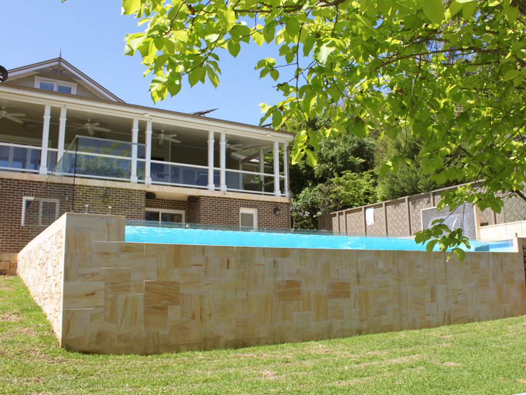 Springwood Above Ground Pool And Glass Wall